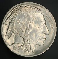 1913-P TYPE 1 BUFFALO NICKEL 5C SOLID GEM WITH GREAT LUSTER & FULL STRIKE GC431
