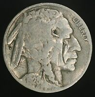 1928-P BUFFALO NICKEL REVERSE CUD VARIETY ERROR  EXAMPLE- SCRATCHED GC555