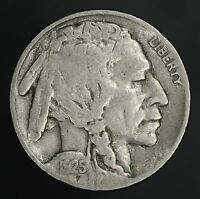 1925-S BUFFALO NICKEL  SOLID FINE  WITH FULL DATE GC567