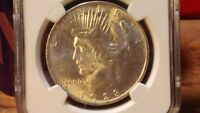 1923 PEACE DOLLAR MINT STATE 64 NGC