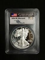2015-W PR70 DCAM PCGS SILVER EAGLE MERCANTI SIGNED FIRST DAY ISSUE WASHINGTON DC