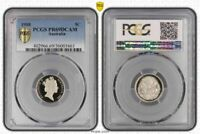 1988 AUSTRALIA 5 CENTS PCGS PR69DCAM PROOF COIN ONLY 4 GRADED HIGHER