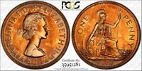 1970 GREAT BRITAIN ONE 1 PENNY PCGS PR66RD COLOR TONED ONLY ONE GRADED HIGHER