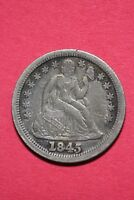 1845 P SEATED LIBERTY DIME DOUBLE DATE EXACT COIN FLAT RATE SHIPPING OCE467