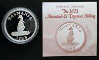 2008 COOK ISLANDS MACINTOSH DEGRAVES SHILLING 1OZ SILVER  .9