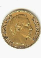 1852A  REPUBLIC OF FRANCE  NAPOLEON  20 FRANC GOLD COIN