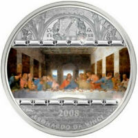 COOK ISLANDS 2008 20 DOLLARS LEONARDO DA VINCI LAST SUPPER 3