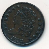 1833 COPPER CLASSIC HEAD HALF CENT-  CIRCULATED TYPE COIN- SHIPS FREE