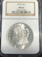 1890-S SILVER MORGAN DOLLAR NGC MINT STATE 63