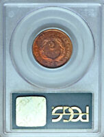 1873 PCGS PR64 RB CAC GORGEOUS  NON-DOCTORED  PROOF TWO CENT PIECE 2C