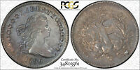 1796-P LARGE DATE SMALL LETTERS DRAPED BUST SILVER DOLLAR PCGS GENUINE CLEANED