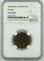 1864/186 TWO CENTS, VP-009, NGC VF25 BN