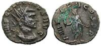 CLAUDIUS II P M TR P II COS P P FROM ROMEDATED COIN WITH EMPEROR REVERSE