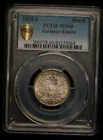 GERMANY 1915 F MARK PCGS GRADED MS66 GEM UNCIRCULATED WORLD SILVER COIN