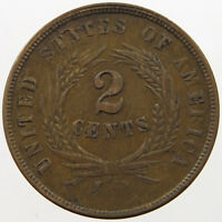UNITED STATES 2 CENTS 1864 4 WEAK STRIKE   T28 449