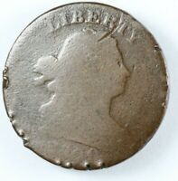 1800 DRAPED BUST HALF CENT 1/2C