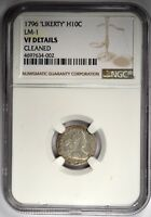 1796 DRAPED BUST HALF DIME - NGC VF DETAILS - LM-1