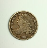 1832 CAPPED BUST DIME 10C SILVER COIN LOW MINTAGE