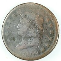 1809 CLASSIC HEAD LARGE CENT COIN 1C - S-280