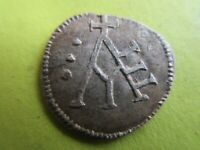 MEDIEVEL SILVER COIN.A WITH CROSS ON OBV.UNKNOWN INSCRIPTION