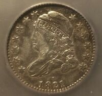 1821 CAPPED BUST DIME EXTRA FINE  DETAILS