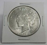 1928 PEACE SILVER DOLLAR AU   ALMOST UNCIRCULATED KEY DATE S