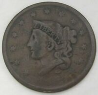 TWO LARGE CENTS 1836 1837 G/GOOD, 156