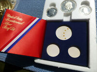 1776 1976 CAMEO PROOF SET 3 BICENTENNIAL 40  SILVER COINS OR