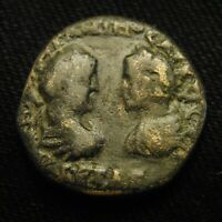 26 MARKIANOPOLIS EMPERORS CARACALLA & GETA FACING RV TYCHE 11.18 GRAMS 25 6MM