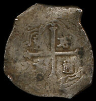 MEXICO ND 1621 1655 4 REALES COB   WORLD SILVER COIN