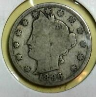 EARLY YEAR 1896 V NICKEL BUY IT NOW