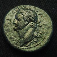 30 ANTIOCH SYRIA EMPEROR VESPASIAN RV LARGE S C WREATH 15.76 G 28 30MM AD 69 79