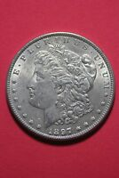 1897 P VAM 6A PITTED REVERSE MORGAN SILVER DOLLAR FLAT RATE SHIPPING  OCE 066