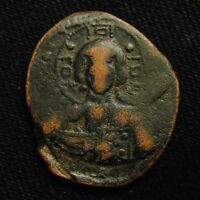 BYZANTINE CLASS B ANONYMOUS FOLLIS ROMANUS III CHRIST FACING 9.71 GR AD 1028 34