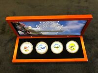 COOK ISLANDS  $2 2006 FOUR  4  1930'S RACERS COIN SET SILVER