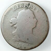 1800 DRAPED BUST HALF CENT 1/2C - C-1 R.2