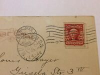 VINTAGE POST CARD WITH 2 CENTS WASHINGTON UNIQUE STAMP DATED POSTMARK DEC. 1905