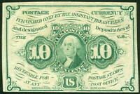 US STAMPS 1862 10 FRACTIONAL POSTAL CURRENCY SCOTT  PC3 $75.