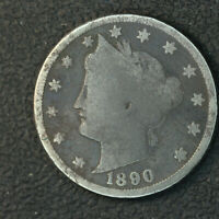 1890 V NICKEL  BETTER DATE 61319