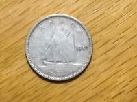 1949 CANADA 10 CENT  SILVER COIN  CANADIAN