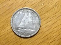 1946 CANADA 10 CENT  SILVER COIN  CANADIAN