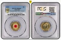 2012 MS64 AUSTRALIA $2 REMEMBRANCE DAY COLORED PCGS  842 D6