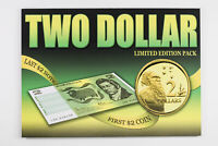 LAST $2 NOTE FIRST $2 COIN UNC AUSTRALIAN LIMITED EDITION FO