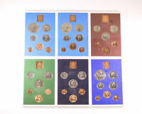 6X 1972   1977 UNITED KINGDOM PROOF COIN SETS D6 1140