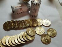 CIRCULATED ABRAHAM LINCOLN PRESIDENTIAL DOLLAR COIN ROLL $25 2010 D MINT