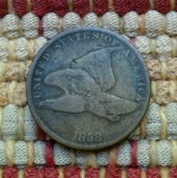 1858 FLYING EAGLE CENT, SMALL LETTERS