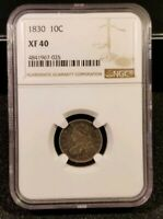 1830 10C CAPPED BUST SILVER DIME COIN  - NGC EXTRA FINE -40