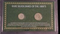 DIMES OF THE 1800'S 1870 STANDING LIBERTY HALF DIME1858 SEATED LIBERTY DIME