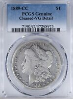 1889 CC MORGAN DOLLAR PCGS VGDETAIL CLEANED