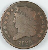 1825 CLASSIC HEAD HALF CENT 1/2C - C-1 R.3 W/ ROTATED DIES